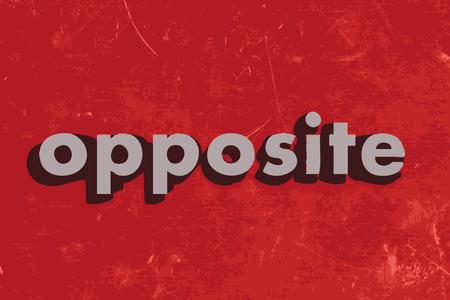 oppos: face mot de vecteur sur mur de b�ton rouge Illustration