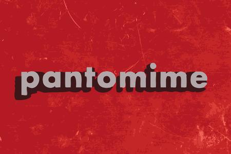 pantomime: palabra pantomima vector en rojo muro de hormig�n