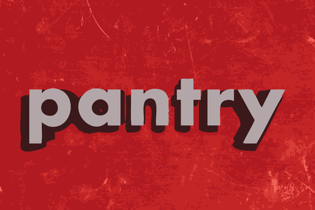 pantry: pantry vector word on red concrete wall