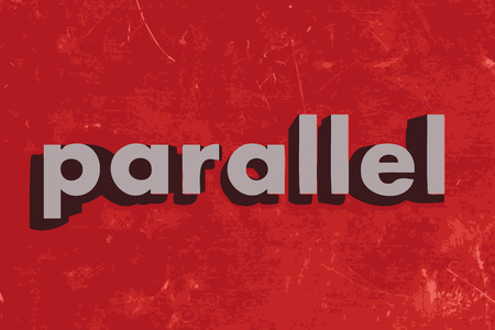 parallel: parallel vector word on red concrete wall