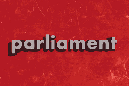 parliament: parliament vector word on red concrete wall Illustration