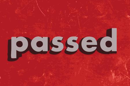 passed: passed vector word on red concrete wall Illustration