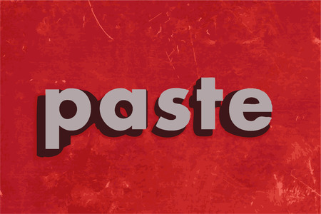 paste: paste vector word on red concrete wall