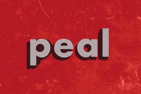 peal: peal vector word on red concrete wall