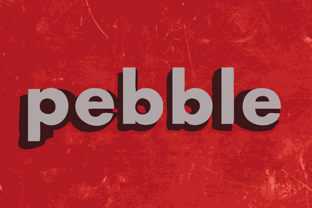 red pebble: pebble vector word on red concrete wall Illustration