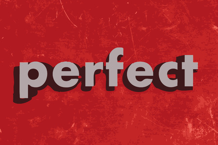 perfect: perfect vector word on red concrete wall Illustration