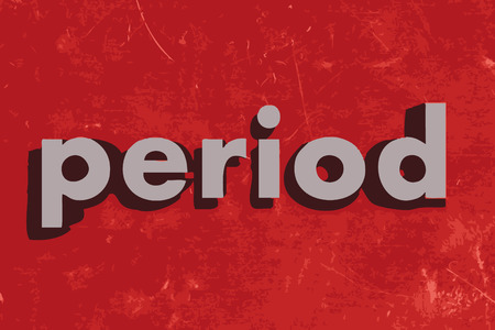 the period: period vector word on red concrete wall Illustration