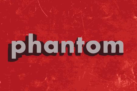 phantom: phantom vector word on red concrete wall