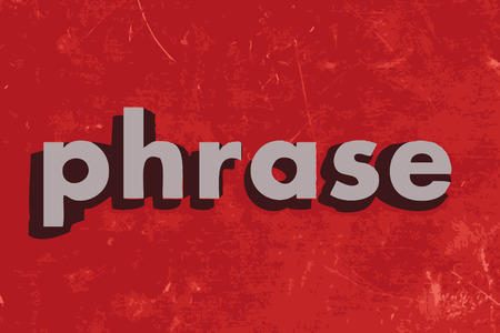 phrase: phrase vector word on red concrete wall Illustration