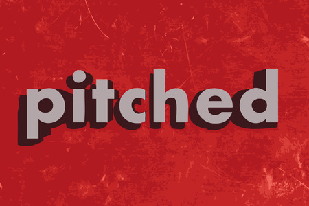 pitched: pitched vector word on red concrete wall Illustration