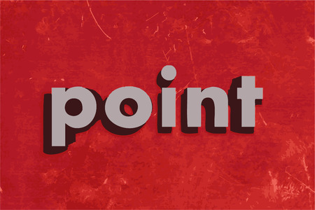 red point: point vector word on red concrete wall Illustration