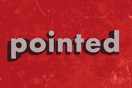 puntig: puntige vector woord over de rode betonnen muur