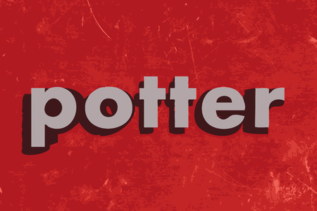 potter: potter vector word on red concrete wall Illustration