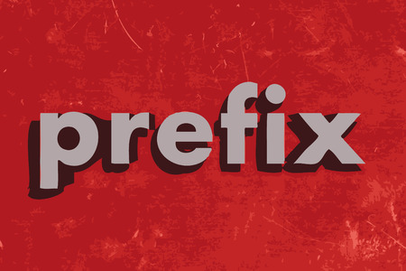 prefix vector word on red concrete wall