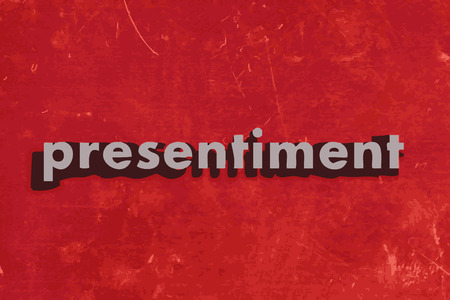 presentiment: presentiment vector word on red concrete wall Illustration