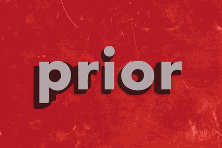 prior: prior vector word on red concrete wall