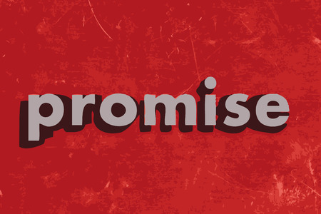 promise: promise vector word on red concrete wall