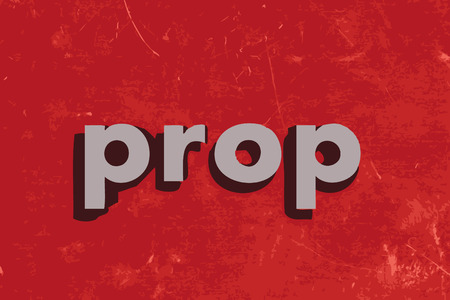 prop: prop vector word on red concrete wall