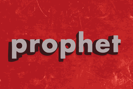 prophet vector word on red concrete wall Illustration