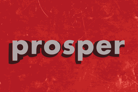 prosper: prosper vector word on red concrete wall Illustration