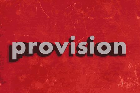 abastecimiento: palabra prestaci�n del vector en rojo muro de hormig�n