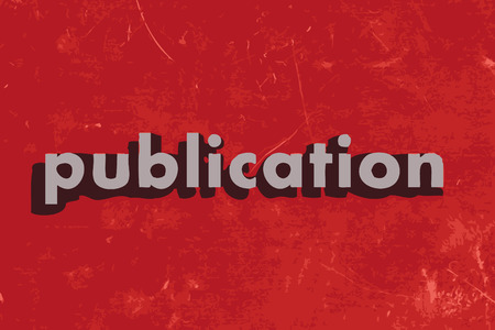 publication vector word on red concrete wall