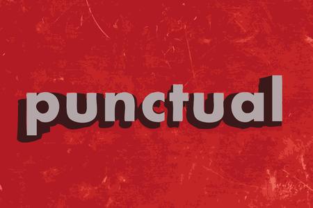 stipt: punctueel vector woord over rode betonnen muur