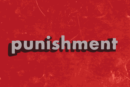 punish: punishment vector word on red concrete wall Illustration