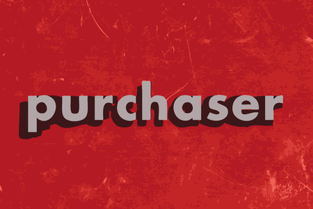 purchaser: purchaser vector word on red concrete wall
