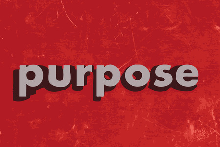 intention: purpose vector word on red concrete wall Illustration