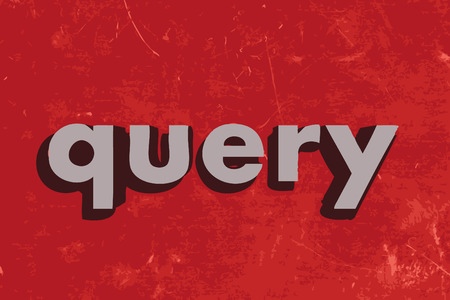 query: query vector word on red concrete wall Illustration