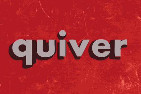 quiver: quiver vector word on red concrete wall