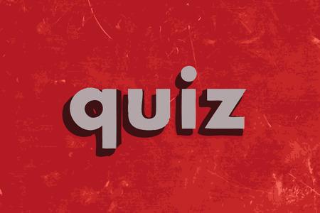 kwis: quiz vector woord over de rode betonnen muur