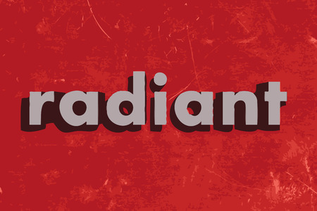 radiant: radiant vector word on red concrete wall Illustration