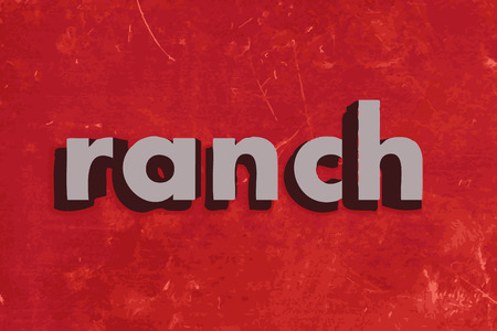 ranch: ranch vector word on red concrete wall