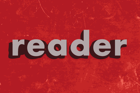 reader: reader vector word on red concrete wall