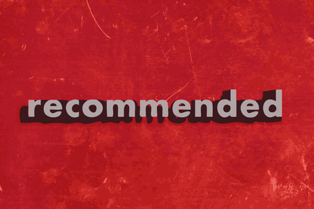 recommended: recommended vector word on red concrete wall