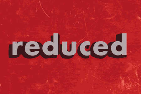 reduced: reduced vector word on red concrete wall Illustration