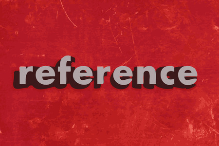 reference: reference vector word on red concrete wall