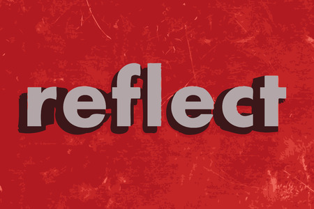 reflect: reflect vector word on red concrete wall Illustration