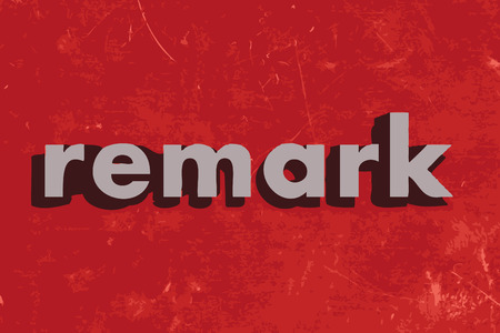 remark vector word on red concrete wall
