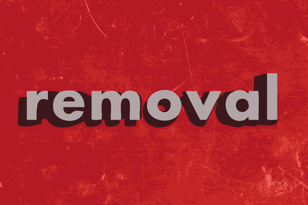 removal: removal vector word on red concrete wall Illustration