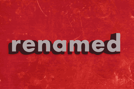renamed: renamed vector word on red concrete wall
