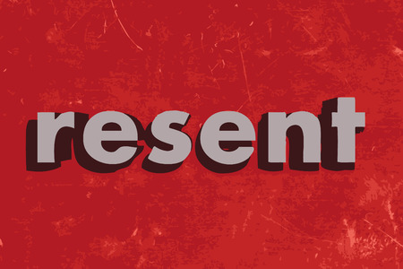 resent: resent vector word on red concrete wall Illustration