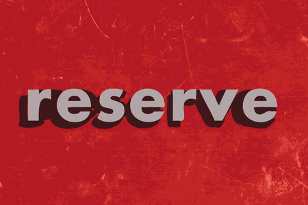 reserve: reserve vector word on red concrete wall Illustration