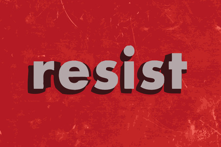 resist: resist vector word on red concrete wall Illustration