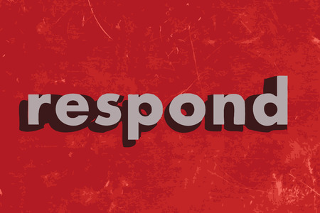 respond: respond vector word on red concrete wall