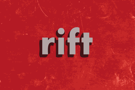 rift: rift vector word on red concrete wall