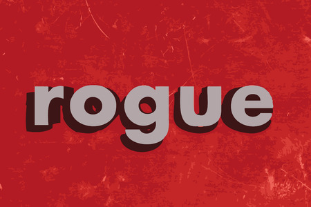 rogue: rogue vector word on red concrete wall