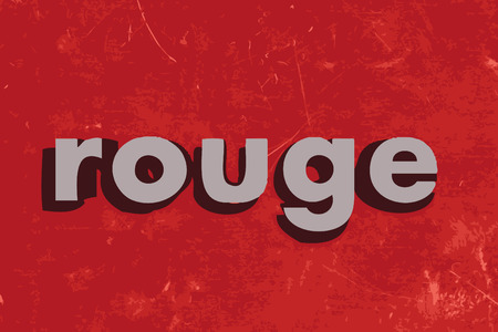 rouge: rouge vector word on red concrete wall Illustration